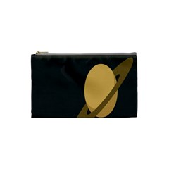 Saturn Ring Planet Space Orange Cosmetic Bag (small)  by Alisyart