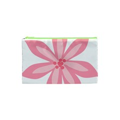 Pink Lily Flower Floral Cosmetic Bag (xs) by Alisyart