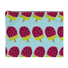 Watermelonn Red Yellow Blue Fruit Ice Cosmetic Bag (xl)