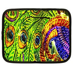 Peacock Feathers Netbook Case (xl)