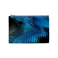 Waves Wave Water Blue Hole Black Cosmetic Bag (medium)