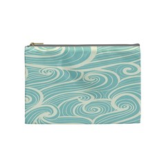 Blue Waves Cosmetic Bag (medium)  by Alisyart