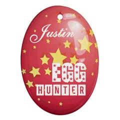 Easter Egg Hunter Oval Ornament