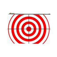 Sniper Focus Target Round Red Cosmetic Bag (large)  by Alisyart