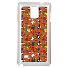 Wine Cheede Fruit Purple Yellow Orange Samsung Galaxy Note 4 Case (white) by Alisyart