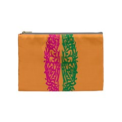 Brian Pink Green Orange Smart Cosmetic Bag (medium)  by Alisyart