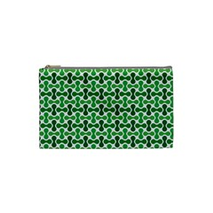 Green White Wave Cosmetic Bag (small)  by Alisyart