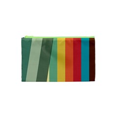 Texture Stripes Lines Color Bright Cosmetic Bag (xs) by Simbadda