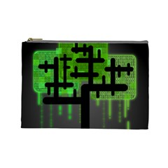 Binary Binary Code Binary System Cosmetic Bag (large)  by Simbadda