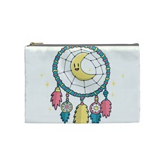 Cute Hand Drawn Dreamcatcher Illustration Cosmetic Bag (medium)  by TastefulDesigns