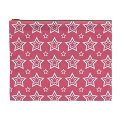 Star Pink White Line Space Cosmetic Bag (xl) by Alisyart