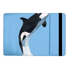 Whale Animals Sea Beach Blue Jump Illustrations Samsung Galaxy Tab Pro 10 1  Flip Case by Alisyart