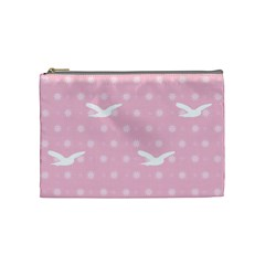 Wallpaper Same Palette Pink Star Bird Animals Cosmetic Bag (medium)