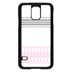 Crown King Quinn Chevron Wave Pink Black Samsung Galaxy S5 Case (black) by Alisyart