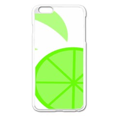 Fruit Lime Green Apple Iphone 6 Plus/6s Plus Enamel White Case by Alisyart