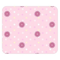 Star White Fan Pink Double Sided Flano Blanket (small)