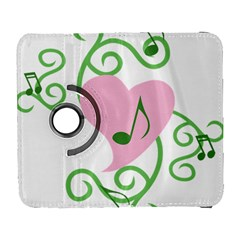 Sweetie Belle s Love Heart Music Note Leaf Green Pink Galaxy S3 (flip/folio) by Alisyart