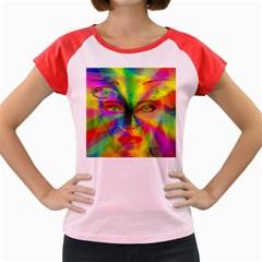 Rainbow Girl Women s Cap Sleeve T-shirt by Valentinaart