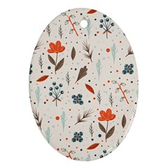 Seamless Floral Patterns  Oval Ornament (two Sides)