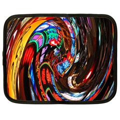 Abstract Chinese Inspired Background Netbook Case (xl)  by Simbadda