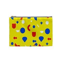 Circle Triangle Red Blue Yellow White Sign Cosmetic Bag (medium)  by Alisyart