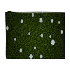 Graphics Green Leaves Star White Floral Sunflower Cosmetic Bag (xl) by Alisyart