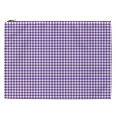 Purple Tablecloth Plaid Line Cosmetic Bag (xxl)  by Alisyart