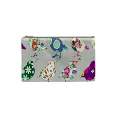 Birds Floral Pattern Wallpaper Cosmetic Bag (small)  by Amaryn4rt