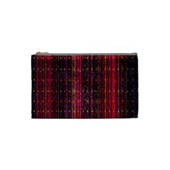 Colorful And Glowing Pixelated Pixel Pattern Cosmetic Bag (small)  by Amaryn4rt