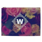 Vintage Monogram Flower Vintage Monogram Flower Cosmetic Bag (XXL)  Front