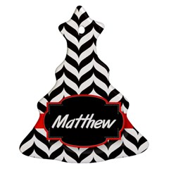 Pattern Black 1 Christmas Tree Ornament (two Sides)
