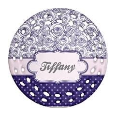 Pattern Purple 2 Ornament (round Filigree)