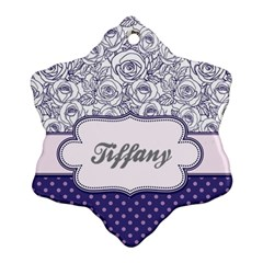 Pattern Purple 2 Snowflake Ornament (two Sides)