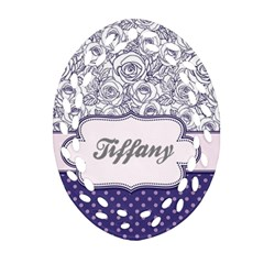 Pattern Purple 2 Ornament (oval Filigree) by strawberrymilkstore8