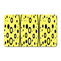 Easter Egg Shapes Large Wave Black Yellow Circle Dalmation Magnet (rectangular)