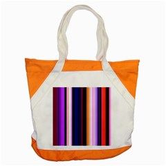 Fun Striped Background Design Pattern Accent Tote Bag