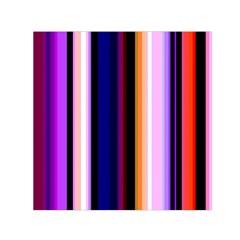 Fun Striped Background Design Pattern Small Satin Scarf (square)