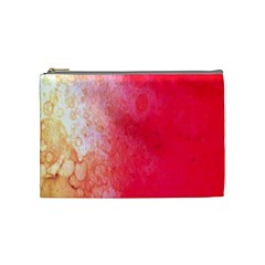 Abstract Red And Gold Ink Blot Gradient Cosmetic Bag (medium)  by Amaryn4rt