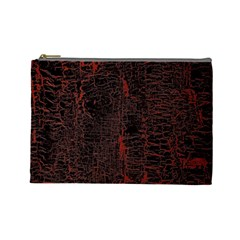 Black And Red Background Cosmetic Bag (large)