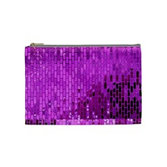 Purple Background Scrapbooking Paper Cosmetic Bag (medium)  by Amaryn4rt