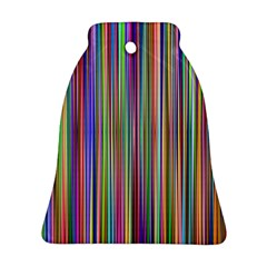 Striped Stripes Abstract Geometric Bell Ornament (two Sides) by Amaryn4rt