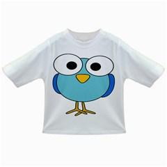 Bird Big Eyes Blue Infant/toddler T-shirts