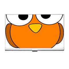 Bird Big Eyes Orange Business Card Holders by Alisyart