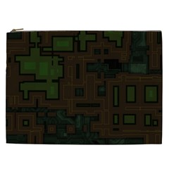 Circuit Board A Completely Seamless Background Design Cosmetic Bag (xxl)
