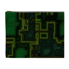 A Completely Seamless Background Design Circuit Board Cosmetic Bag (xl) by Simbadda