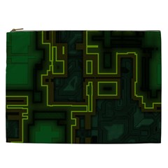 A Completely Seamless Background Design Circuit Board Cosmetic Bag (xxl)  by Simbadda