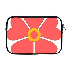 Flower With Heart Shaped Petals Pink Yellow Red Apple Macbook Pro 17  Zipper Case by Alisyart