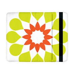 Tikiwiki Abstract Element Flower Star Red Green Samsung Galaxy Tab Pro 8 4  Flip Case by Alisyart