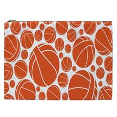 Basketball Ball Orange Sport Cosmetic Bag (xxl)  by Alisyart