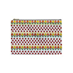 Ladybugs And Flowers Cosmetic Bag (medium)  by Valentinaart